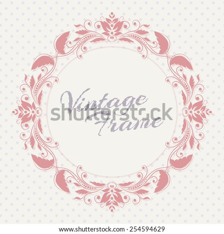 Vector design template - label and badge on decorative background with simple pattern - stock vector