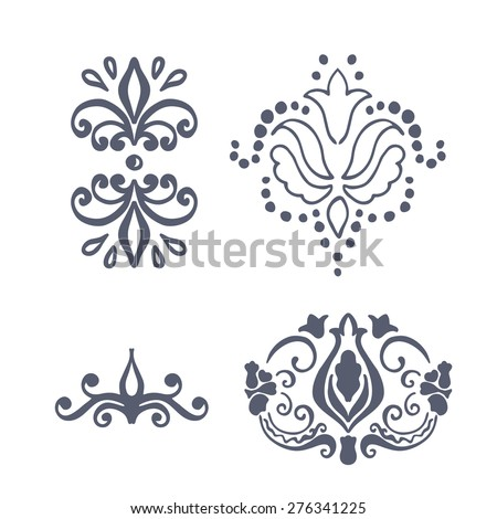 Vector design template. label and badge on decorative background with simple pattern - stock vector