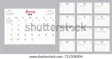 template for calender