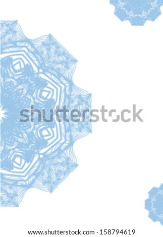 Vector design with snowflakes.