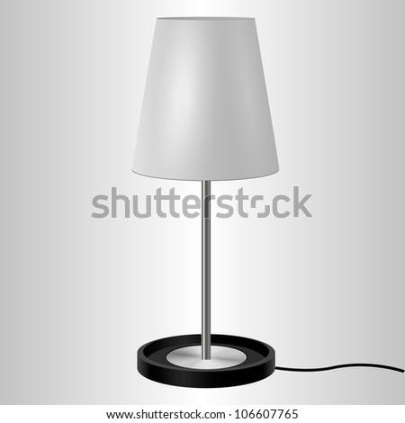vector desk lamp - on white background - stock vector