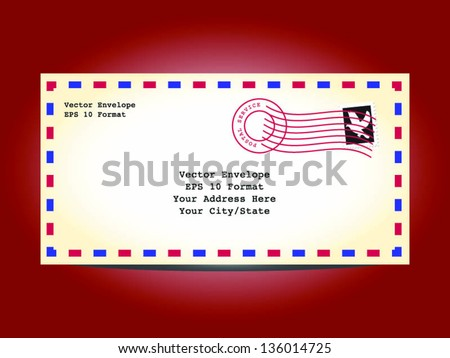 Vector Detailed Envelope and Text Banner - stock vector