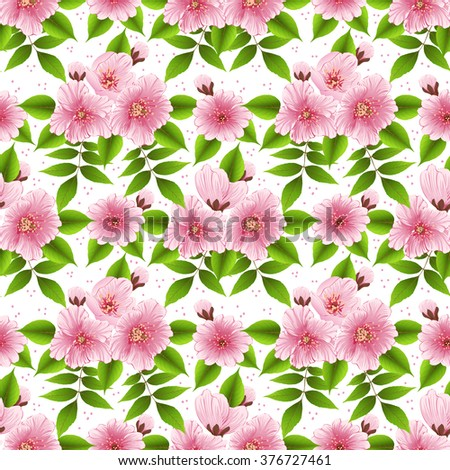 Vector detailed flower seamless pattern background. Elegant texture for backgrounds. Classical luxury old fashioned floral ornament, seamless texture for wallpapers, textile, wrapping. - stock vector