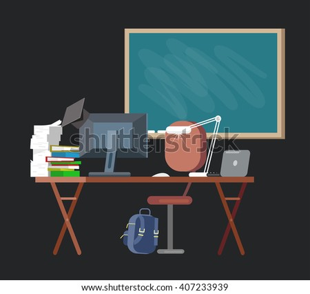 Vector detailed objects for education. Flat  - stock vector