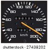 vector detailed speedometer, easy for edit - stock photo