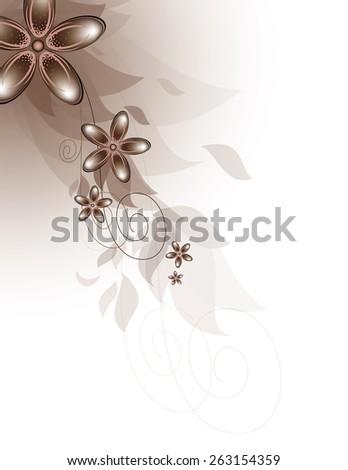 Vector Diagonal Design with Flowers. - stock vector