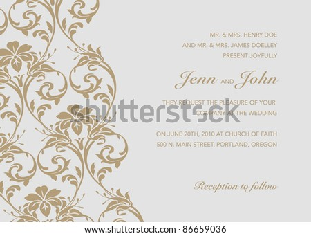 Vector Diagonal Ornate Background. Easy to edit. Perfect for invitations or announcements. - stock vector