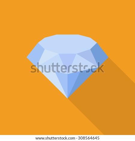 Vector Diamond icon - stock vector