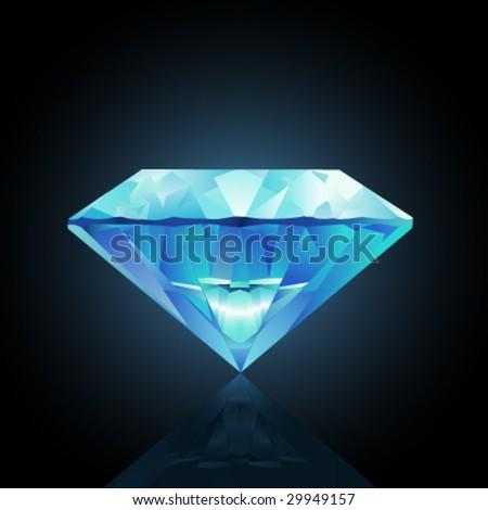 vector diamond illustration - stock vector