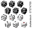 vector dice collection - stock vector