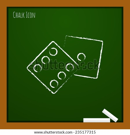 Vector  dice flat icon  isolated outline. Eps10 - stock vector