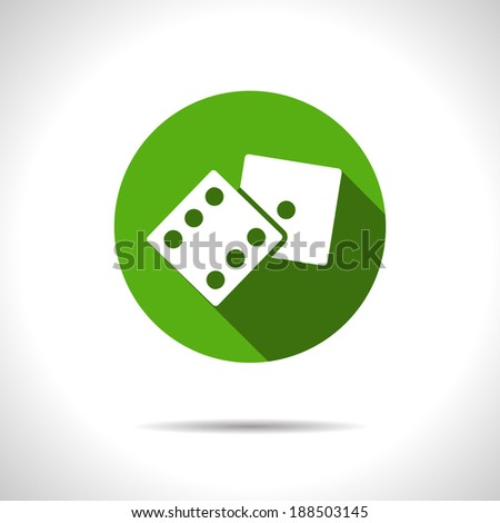 Vector dice icon. Eps10 - stock vector
