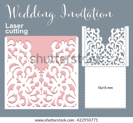 Vector Die Laser Cut Envelope Template Stock Vector 439914649