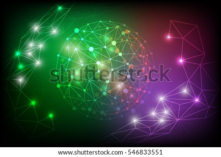 vector digital abstract polygon lines background