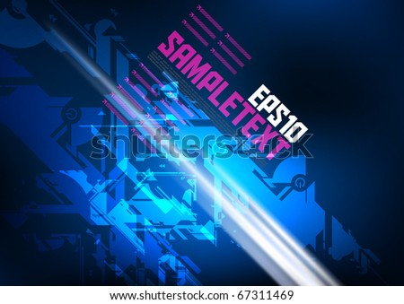 Vector Digital Art - stock vector