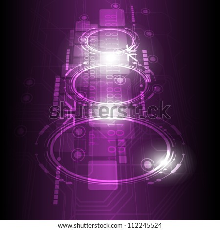 vector digital future technology background