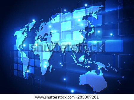 vector digital global communication technology, abstract background