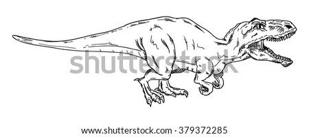 vector - dinosaur , isolated on background
