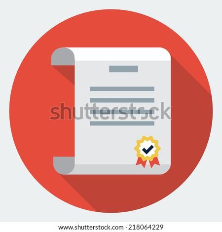 Vector diploma icon - stock vector