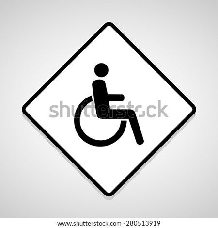 Vector disabled handicap icon, Illustration EPS10 - stock vector
