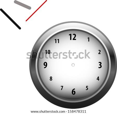 Vector disassembled clocks - stock vector