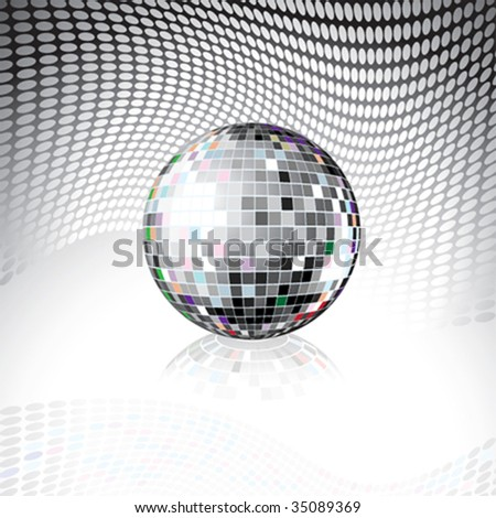 Vector Disco Ball - stock vector