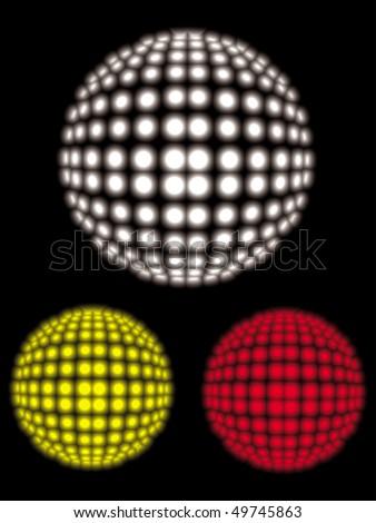 vector disco ball - stock vector