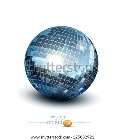 Vector disco ball on a white background - stock vector