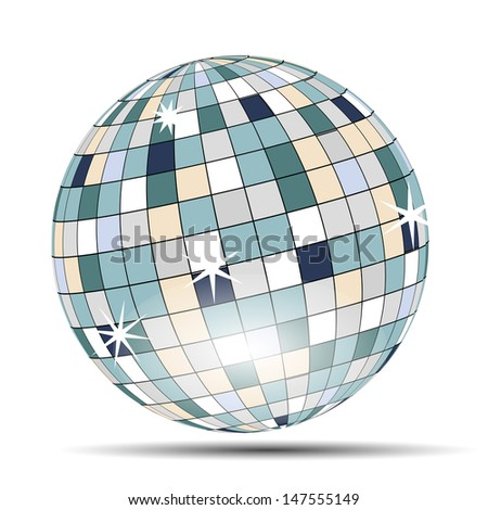vector disco ball on white
