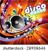 VECTOR Disco Dance Music Colorful Background - stock vector
