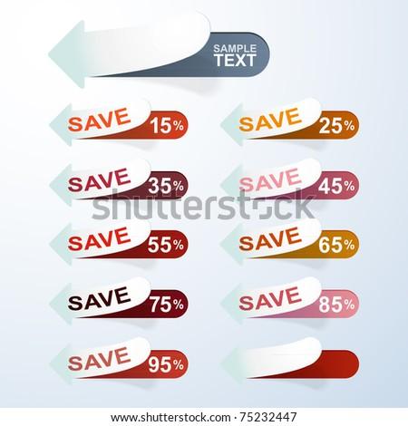 Vector Discount Labels - stock vector