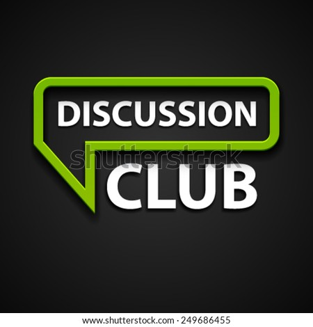vector discussion club icon - stock vector