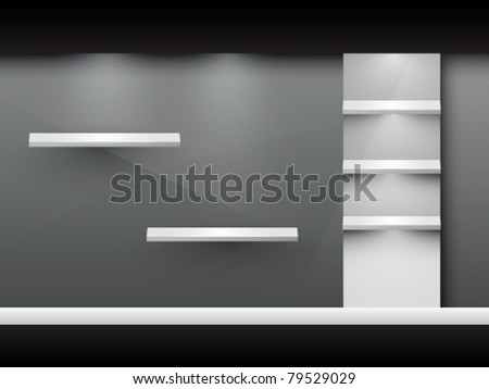 vector display window - stock vector
