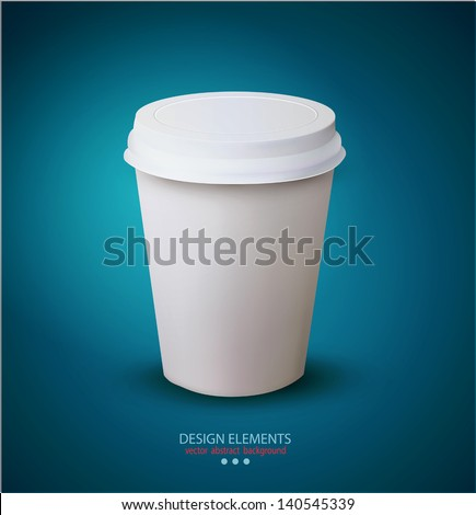 vector disposable paper cup - stock vector