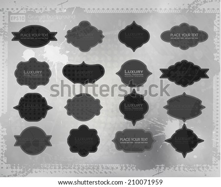 Vector Distressed Frame Set. Easy to edit. Grunge overlays are on separate layers. Perfect for invitations or announcements. - stock vector