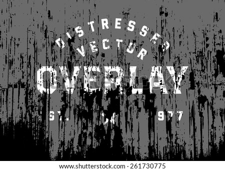 Vector distressed grunge and rust overlay. Place over any object to create distressed effect. - stock vector