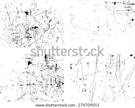Vector Distressed Grunge Texture . Abstract Stock Overlay Texture . Light Distressed Background . Ink Print Distress Background . Ink Blots Splash Grunge Texture . - stock vector