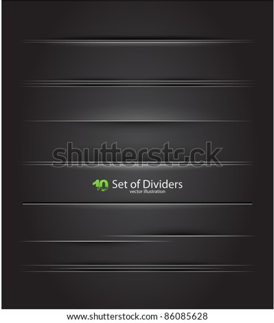 Vector dividers - stock vector