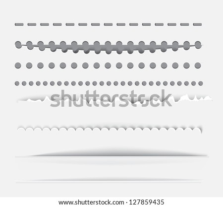 Vector dividers and horizontal rules for design. - stock vector