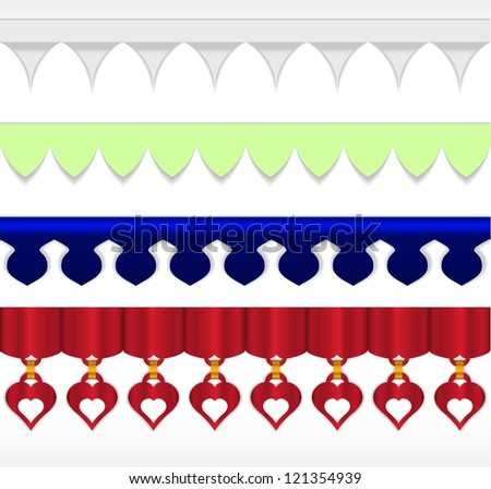 Vector dividers and horizontal rules for your website. - stock vector
