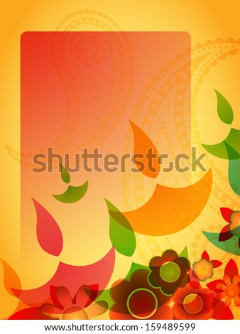vector diwali greeting design with space for your text