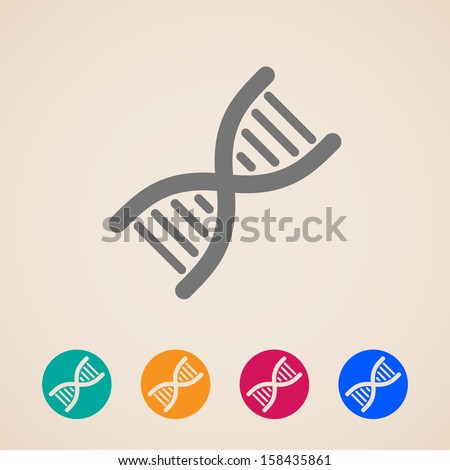vector DNA icons - stock vector