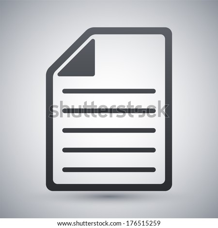 Vector document icon - stock vector