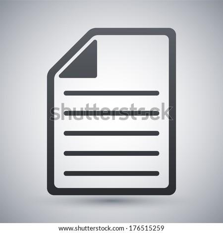 Vector document icon - stock vector