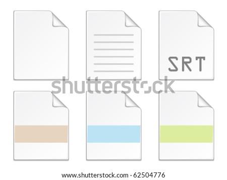 vector document icon templates - stock vector