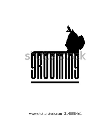 Vector Dog Grooming Logo Pet Grooming Stock Vector 408708709 ...