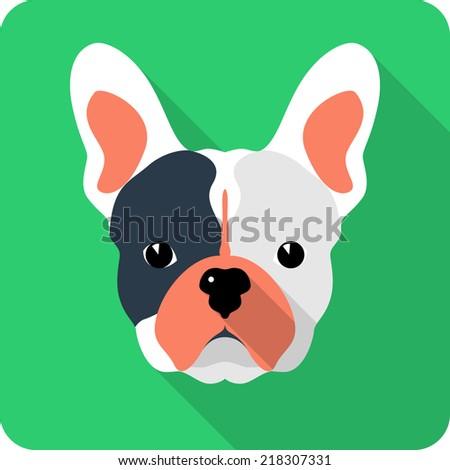Bulldog Silhouette Vector Vector Dog French Bulldog Icon