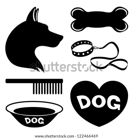 Vector. Dog icons. - stock vector
