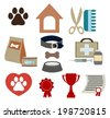 vector Dog life  icons set - stock vector