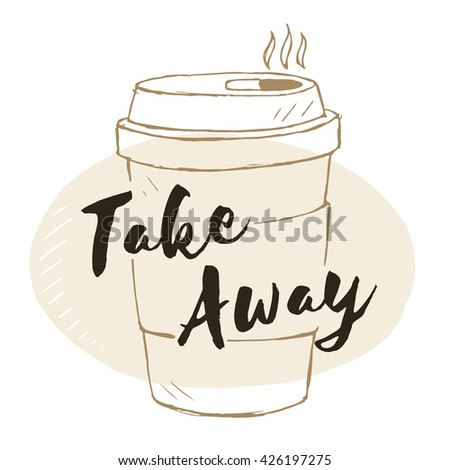 Vector doodle coffee cup, hand drawn elements - stock vector